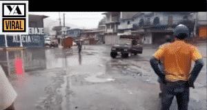 La camioneta giraba fuera de control en Rio Blanco