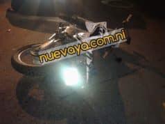 El motociclista fue trasladado al hospital Manolo Morales Peralta