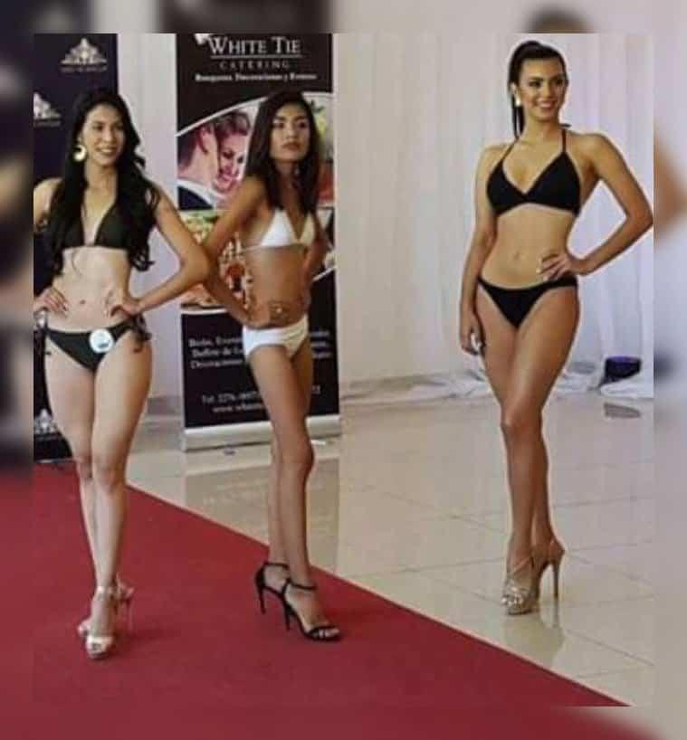 Sylvia Esther Montenegro en el casting de Miss Nicaragua