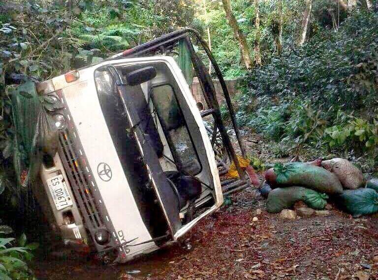 El accidente ocurrió en La Cuesta El Guano en San Juan de Rio Coco
