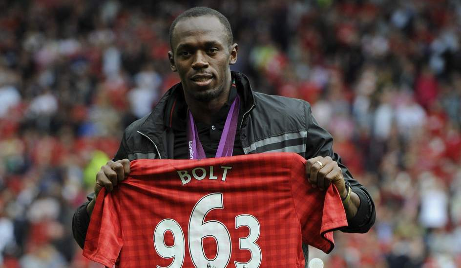 Usain Bolt sueña con jugar para el Manchester United