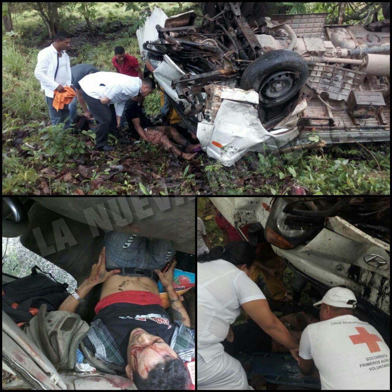 El accidente ocurrió en el el kilómetro 188 de la carretera a El Rama