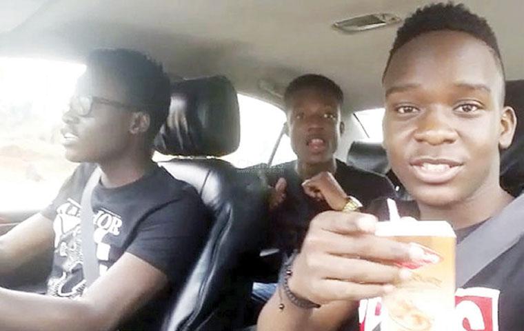 Imágenes del video que tomaron los adolescentes antes del mortal accidente