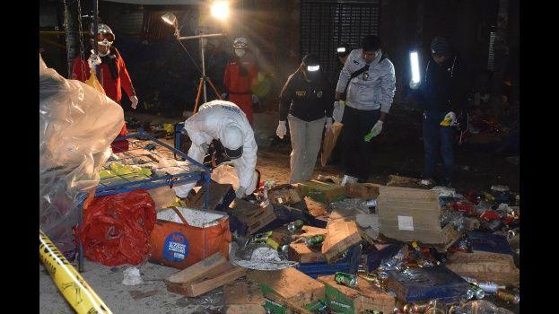 Así quedó la escena tras una explosión de gas en un Festival de Bolivia