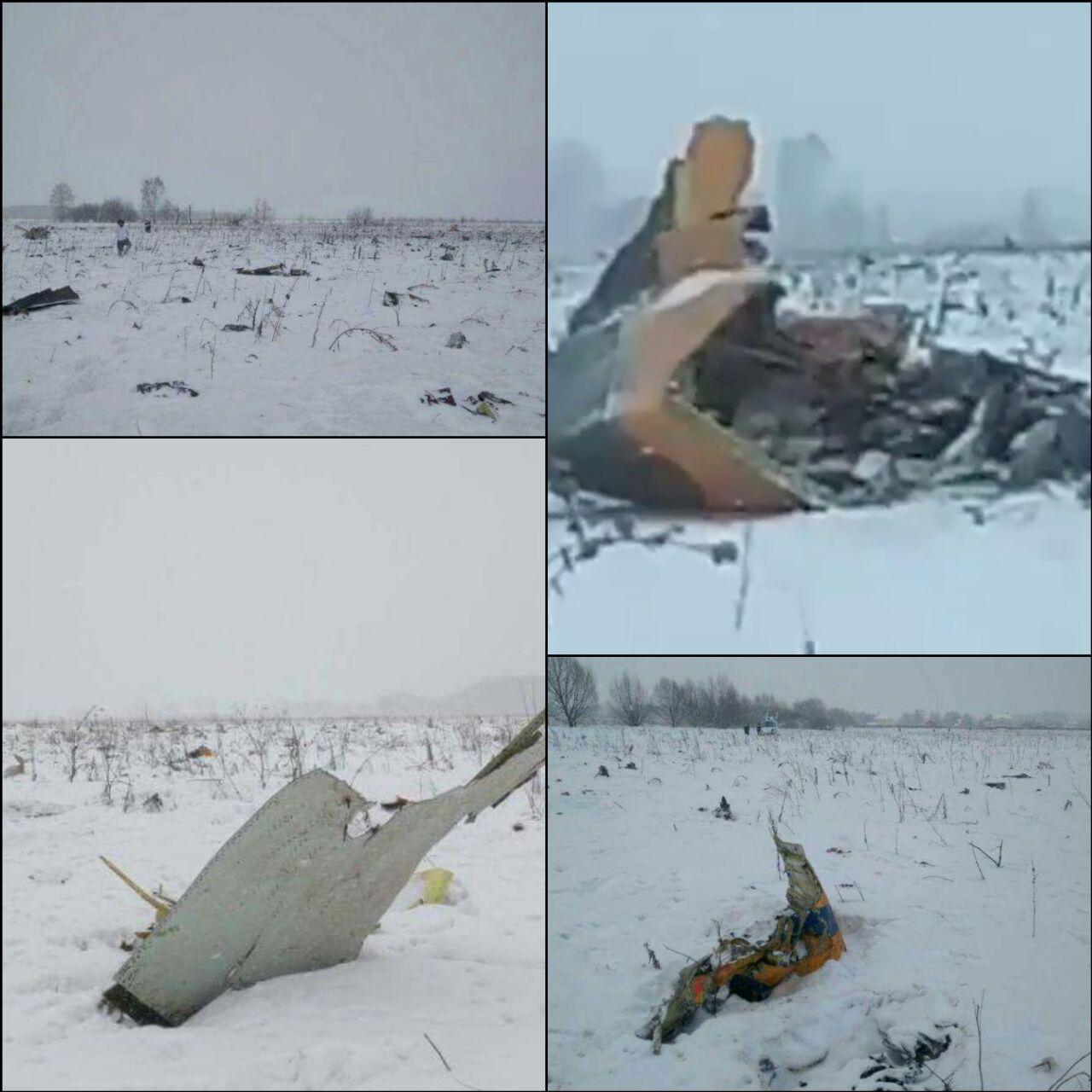 71 personas mueren al estrellarse un avión ruso cerca de Moscú