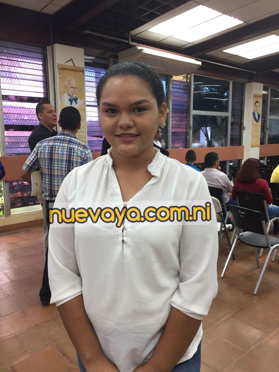 Ariana Patricia Sequeira Téllez, la mejor alumna del examen de admisión de la UNAN-Managua en el 2018