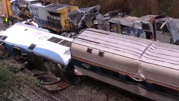 Choque de trenes en Carolina del Sur, Estados Unidos