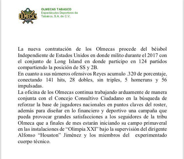 Comunicado de los Olmecas de Tabasco sobre Elmer Reyes