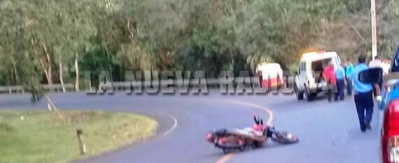 El accidente ocurrió en el kilómetro 241 de la carretera El Coral a Nueva Guinea