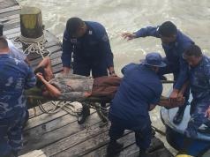 Fuerza Naval rescata a un buzo en alta mar