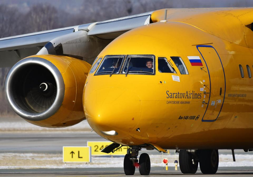 Este era el avión ruso An-148 de Saratov Airlines