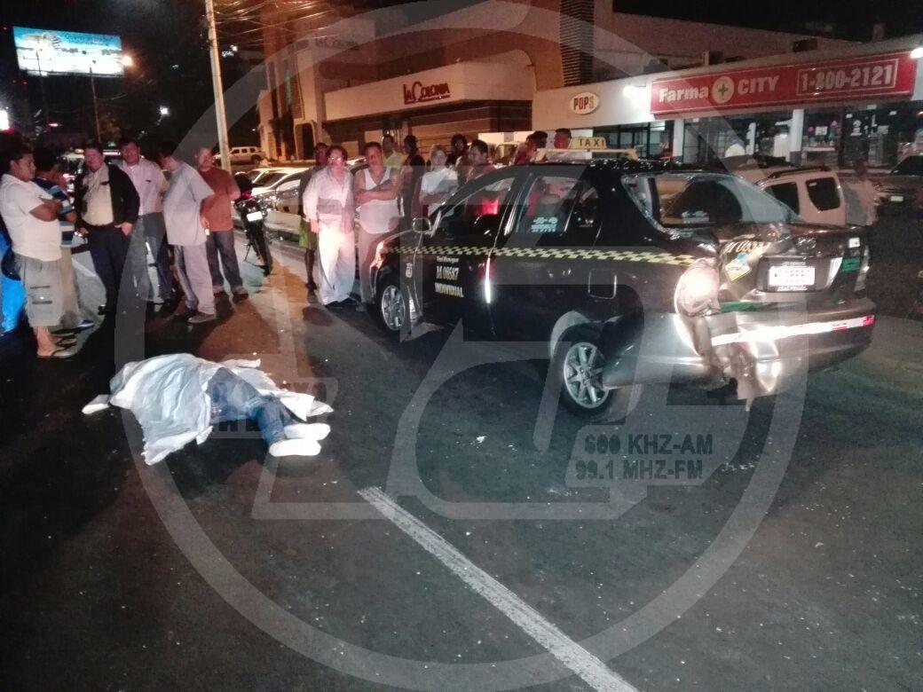 El accidente ocurrió de la rotonda Centroamérica media cuadra al sur