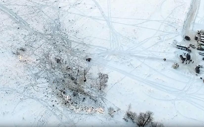 Imágenes del accidente aéreo en Rusia