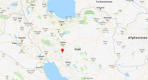 Lugar donde ocurrió el accidente aéreo en Irán