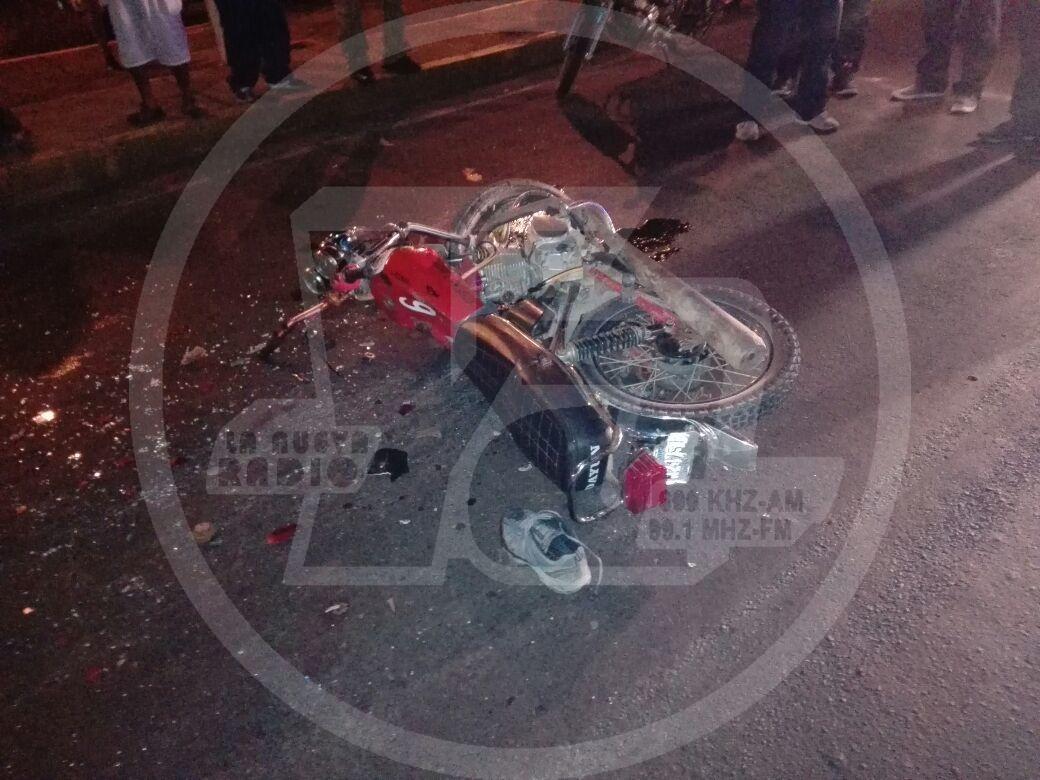 Este era la moto en que se transportaban los lesionados