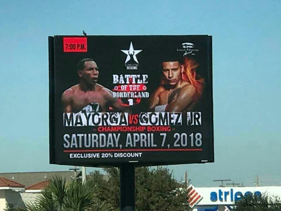 Publicidad de la supuesta pelea de Ricardo Mayorga