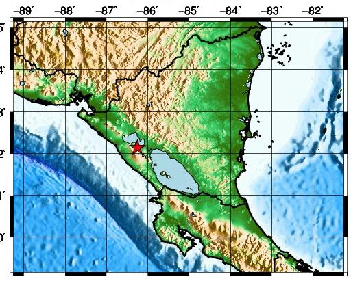 Sismo de 2.2 en Managua