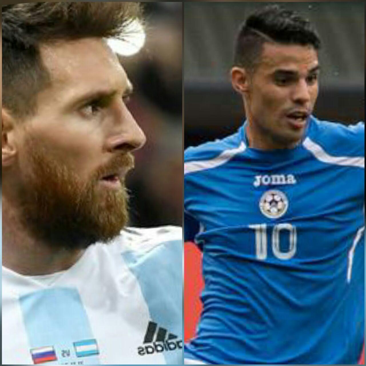 Lionel Messi y Juan Barrera