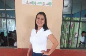 En vida la profesora Aydil Gabriela Valeriano