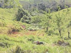El lugar donde encontraron el cuerpo del nicaraguense muerto en Costa Rica
