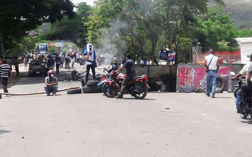 Tranque en la ciudad de Estelí