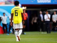 El colombiano Carlos Sánchez, quien se fue expulsado ante Japón al minuto 3 por mano en el área
