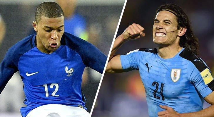 Uruguay vs. Francia: ambos equipos llegan invictos a los cuartos de final