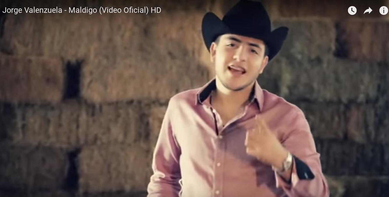 El cantante Jorge Valenzuela