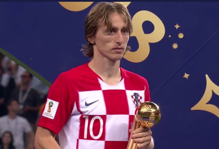 Luka Modric, Balón de Oro del Mundial de Rusia
