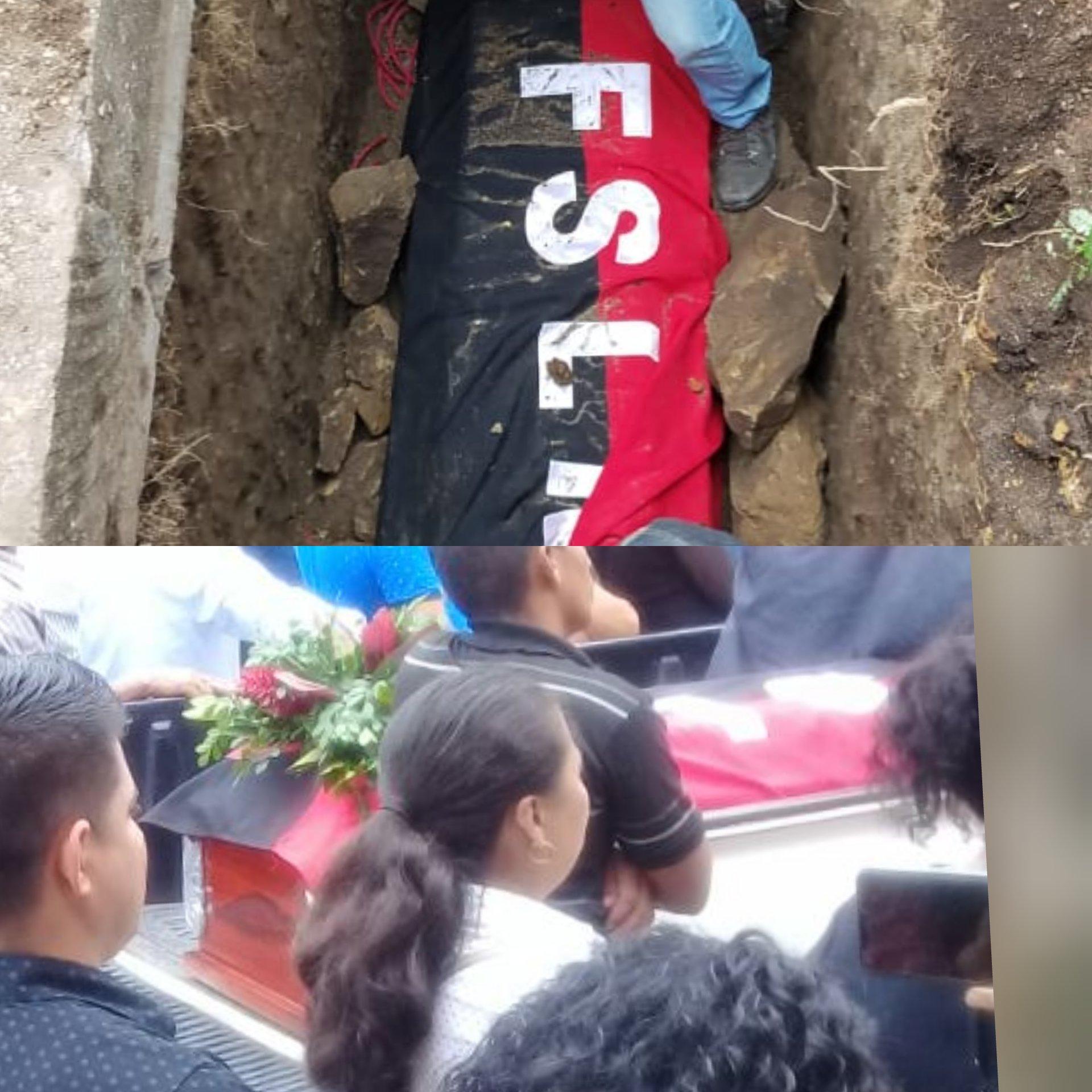 Cepelio del militante sandinista Luis Alberto Espinoza Ruiz