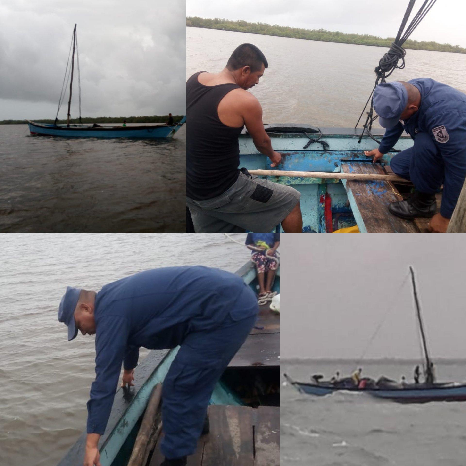 El rescate fue hecho la tarde del martes por el Buque Logístico 507 y una lancha auxiliar con 19 militares