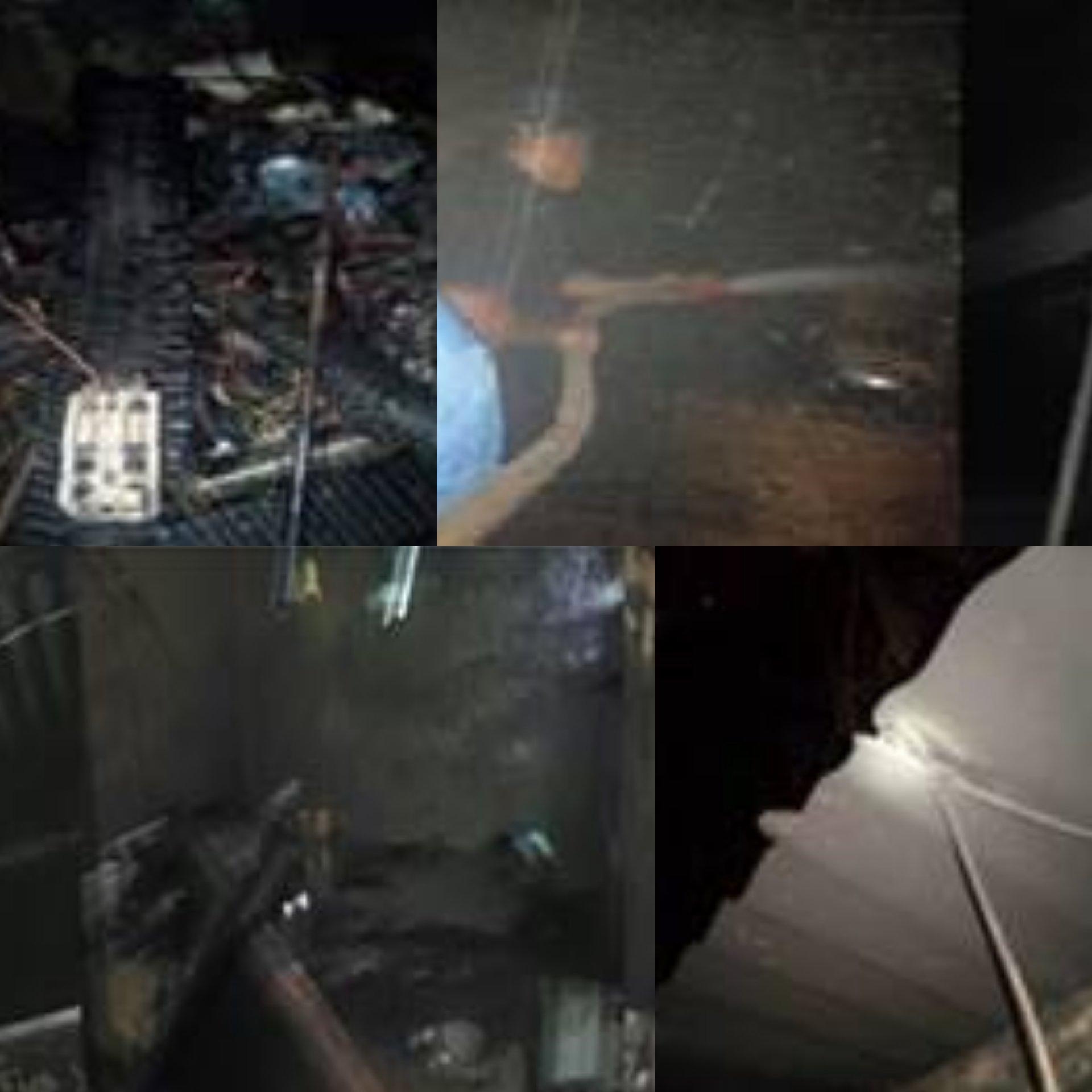 El siniestro dejó cuantiosos daños materiales y afortunadamente no se registran personas lesionadas gracias al rápido actuar de los bomberos