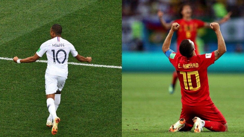 Juegan Francia y Bélgica en la primer semifinal del Mundial