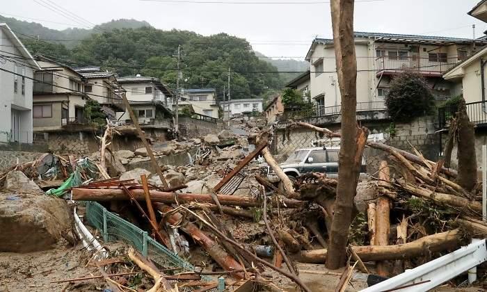 Las lluvias torrenciales en Japón dejan 60 muertos