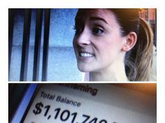 La joven Ellen Fleming devolvió un millón de dólares que le transfirieron por error en su cuenta bancaria
