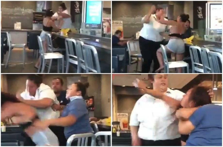 Mujer agrede a una clienta en McDonalds