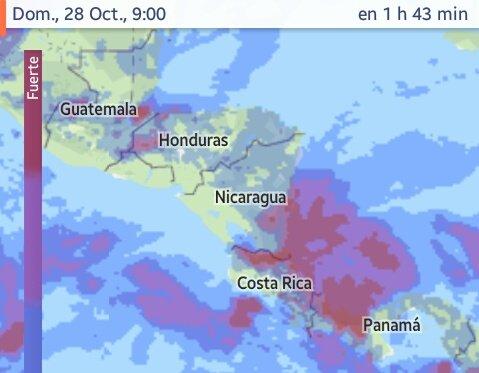 Lluvias en Centroamérica