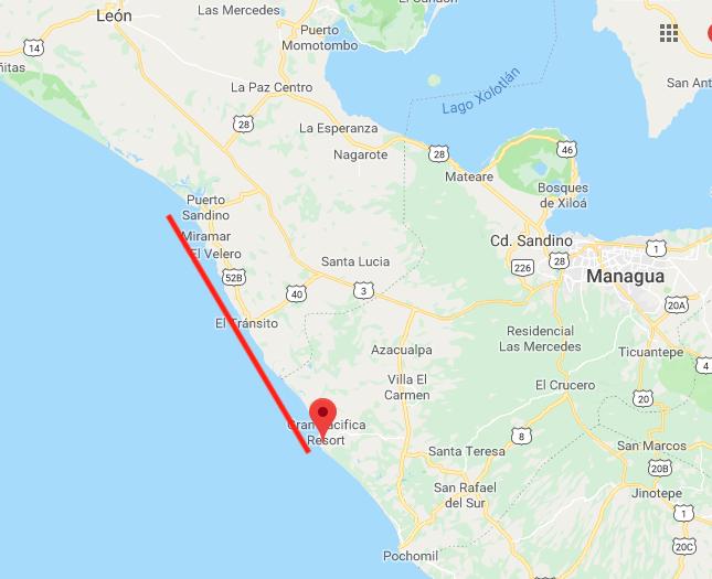 La Marea Roja fue detecta desde Puerto Sandino hasta Playa San Diego