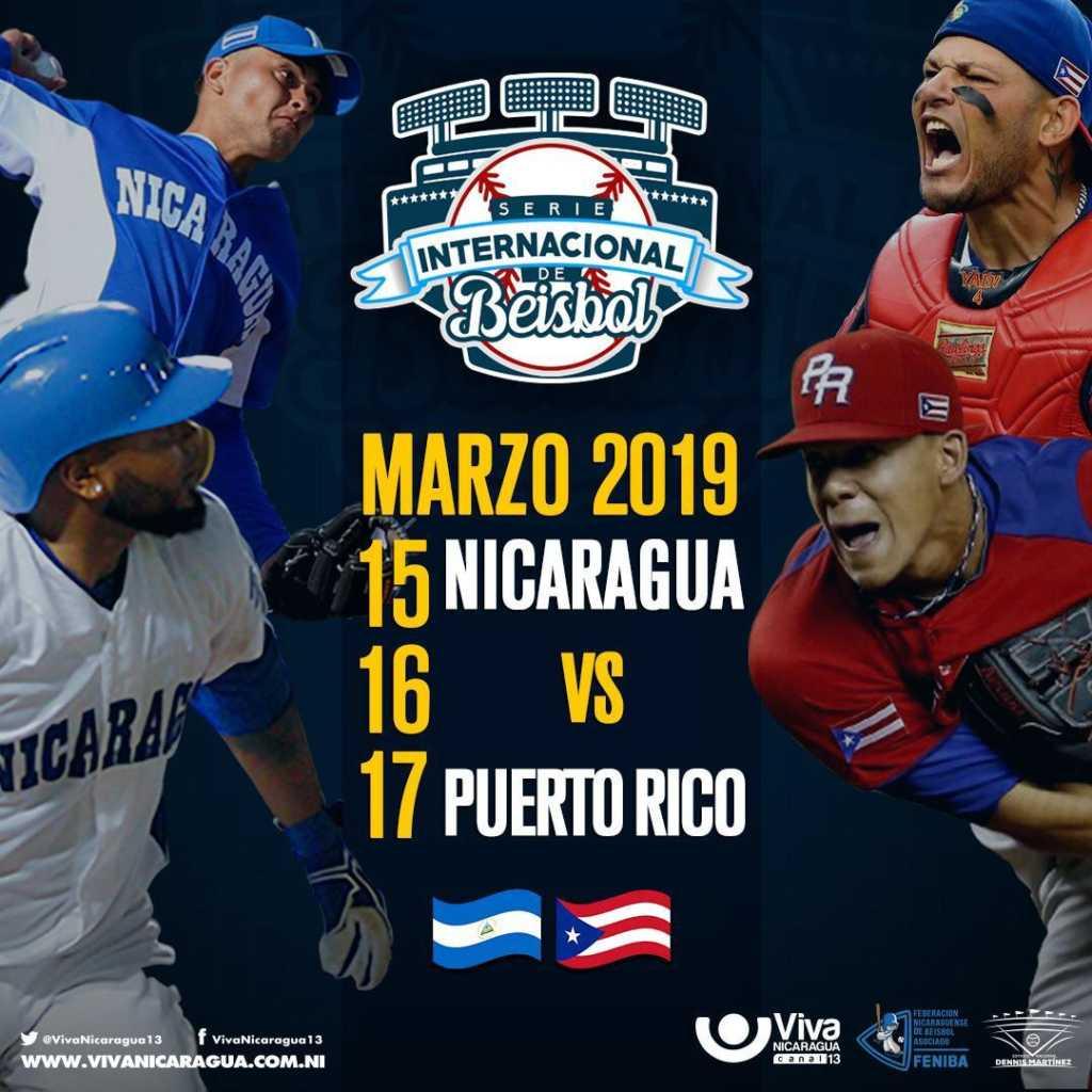 Serie Amistosa Nicaragua vs Puerto Rico en Marzo de 2019