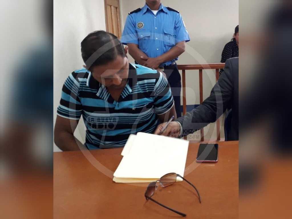 El conductor acusado Wiston Herling Rodríguez Olivera