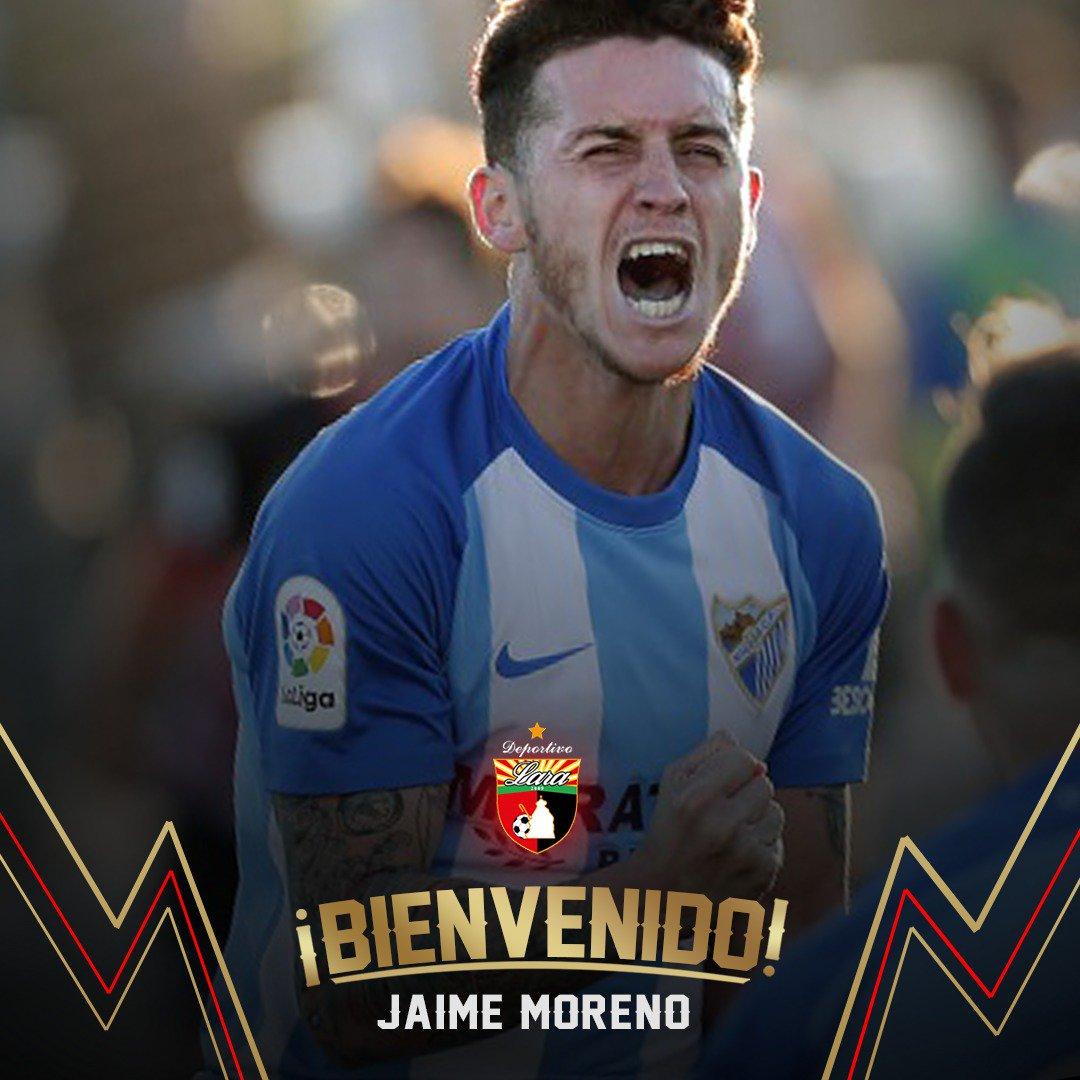 10ceccbcf752 El jugador venezolano-nicaragüense Jaime Moreno firmó un contrato para ser  parte del Club Deportivo Lara de la primera división del fútbol de Venezuela .