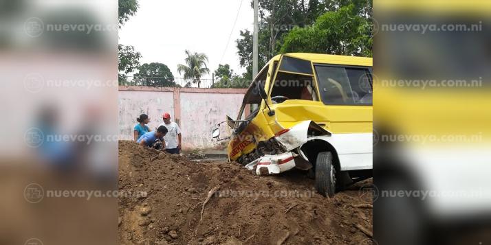 8 lesionados dejó este accidente en Nandaime