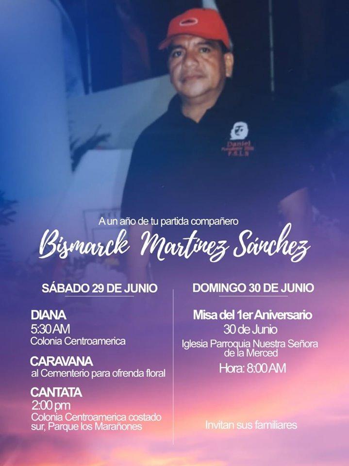 Actividades en homenaje a Bismarck Martínez