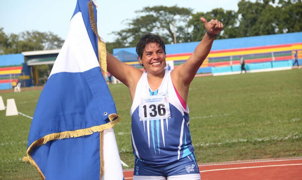 La atleta nicaragüense Dalila Rugama