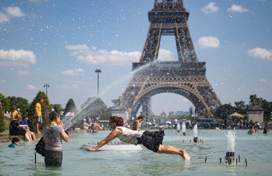 Ola de calor en Francia