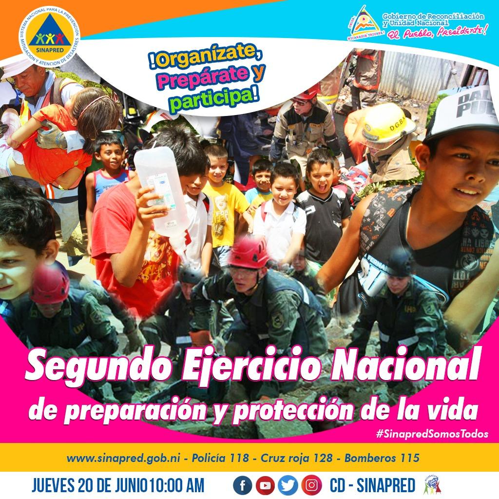 Segundo Ejercicio Nacional de Preparación y Protección de la Vida, Organízate, Prepárate y Participa