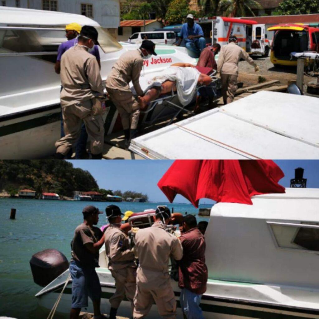 Explosión en bote de Honduras
