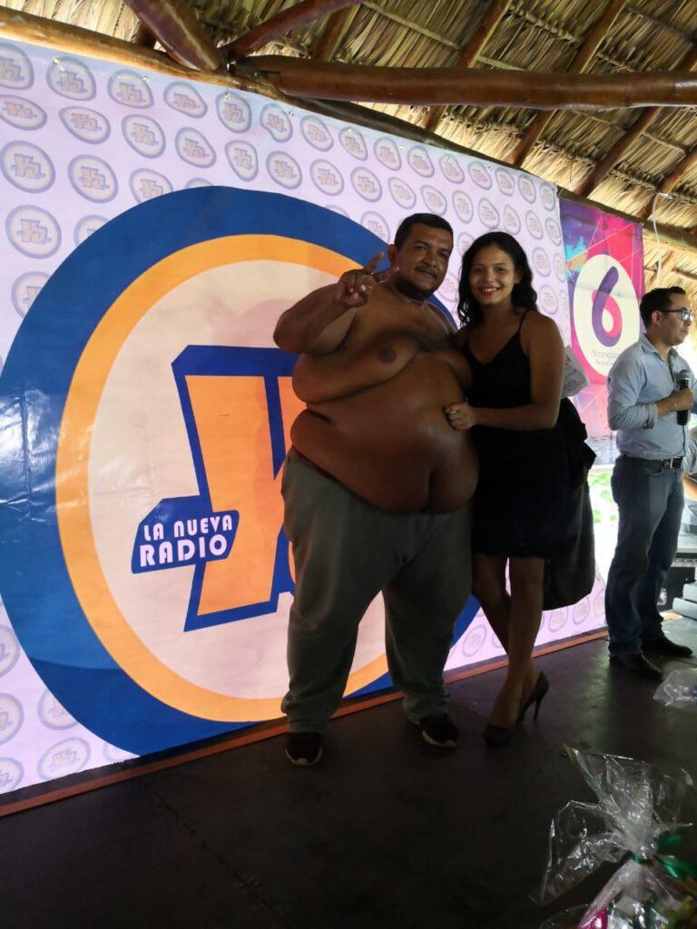 Rolando Javier Mena Salablanca, es taxista y ganador del papá panzón. jpg