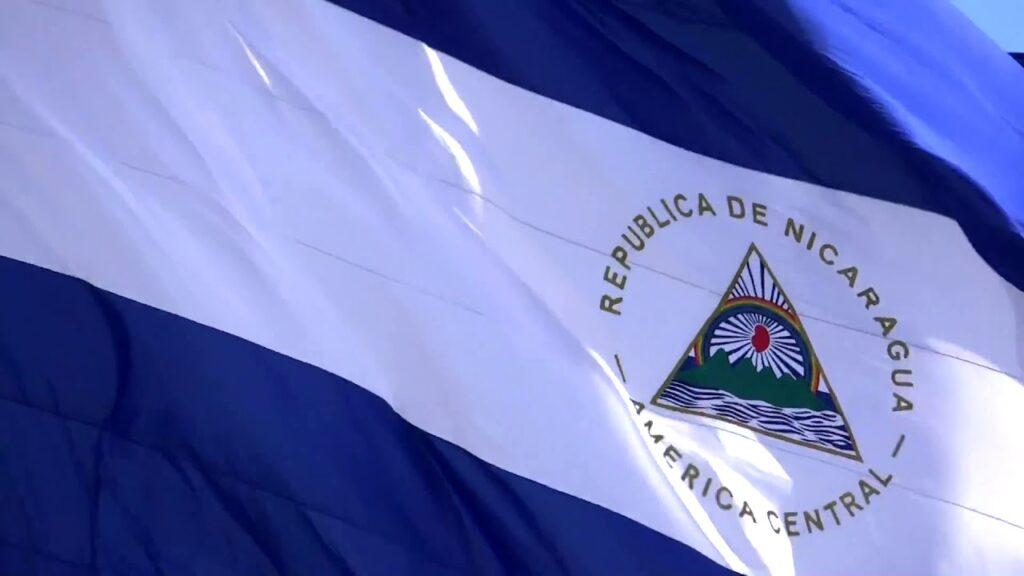 Bandera azul y blanco de Nicaragua