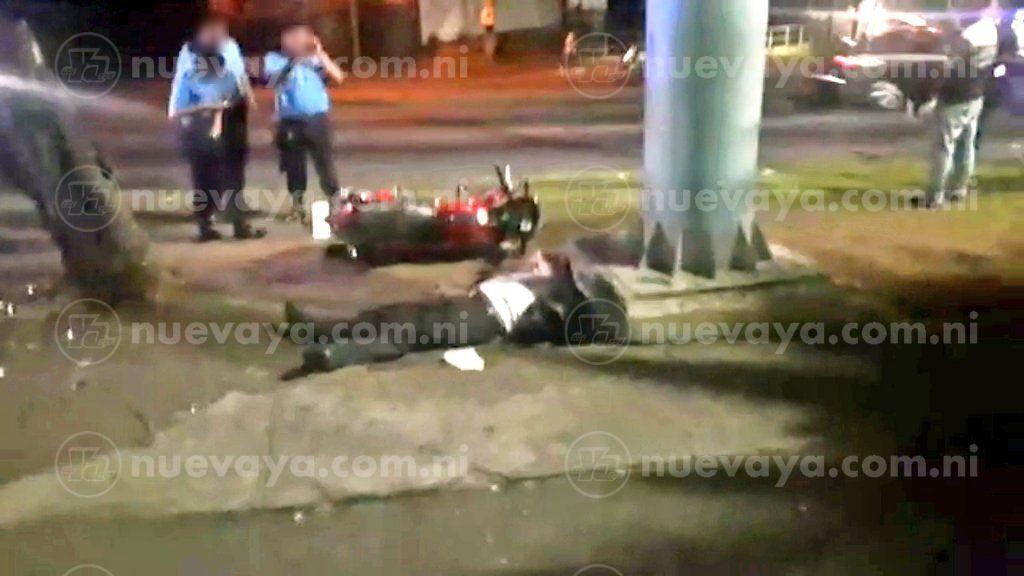 Un motociclista falleció esta madrugada al conducir ebrio y sin casco de seguridad en el sector de ENEL Central